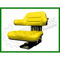Siedzenie PCV dzielone z podłokietnikiem żółte STAR