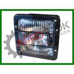 Lampa przednia kwadratowa COBO MTZ Belarus FENDT SAME + żarówka H4