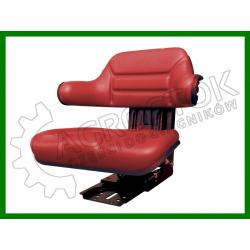 Siedzenie PCV dzielone z podłokietnikiem czerwone STAR